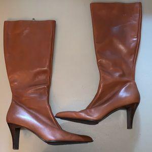 Anne Klein Leather Zip Up Boots